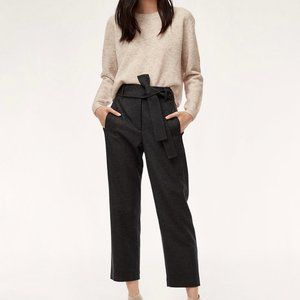 Aritzia Wilfred Tie Front Wool Cashmere Blend Pant